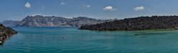 Santorini from Palea Kameni island