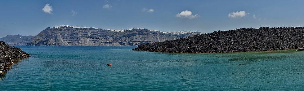 Santorini from Kameni Island