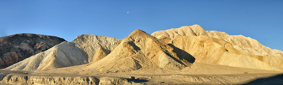 Moon Over Twenty Mule Team Canyon, Death Valley NP