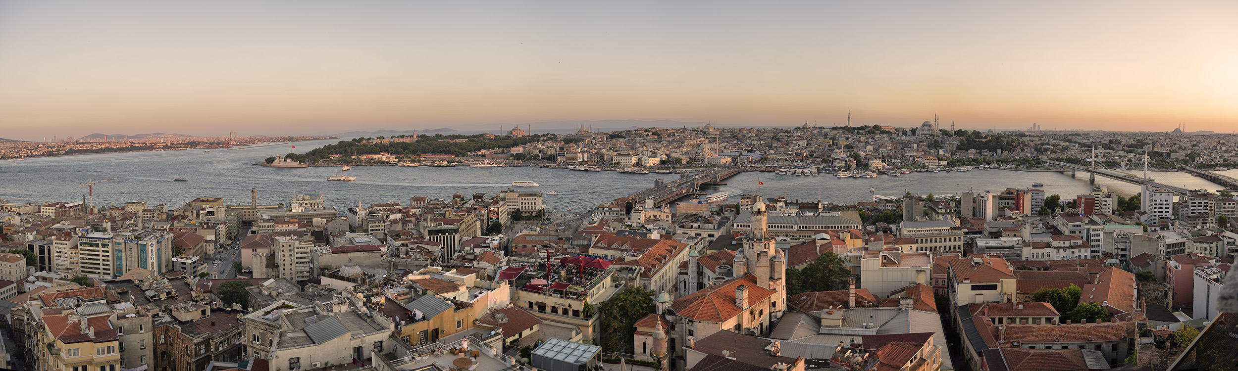 Sunset over Istanbul Old City