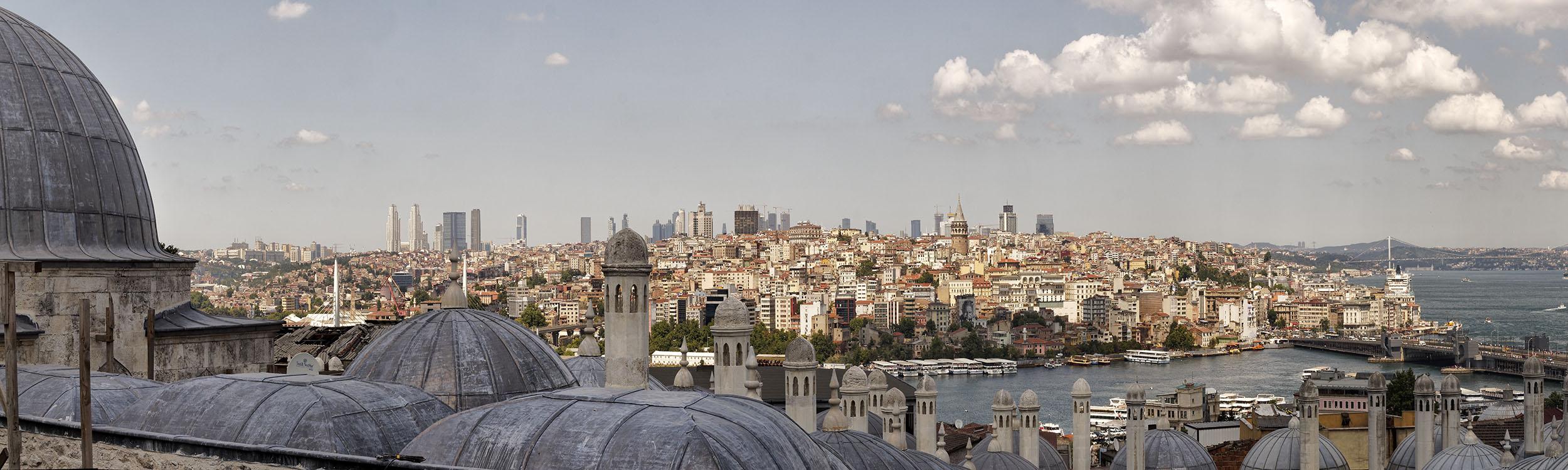 View from Süleymaniye Cami Grounds
