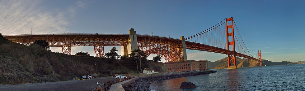 Late Afternoon, Fort Point and Golden Gate Bridge.