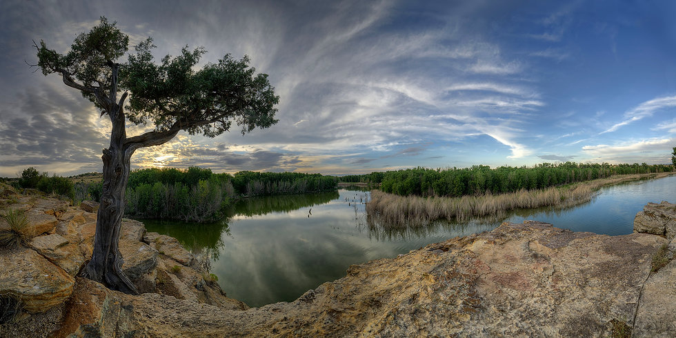 Sunset at Clayton Lake State Park, New Mexico
