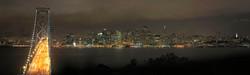 San Francisco in Fog at Night