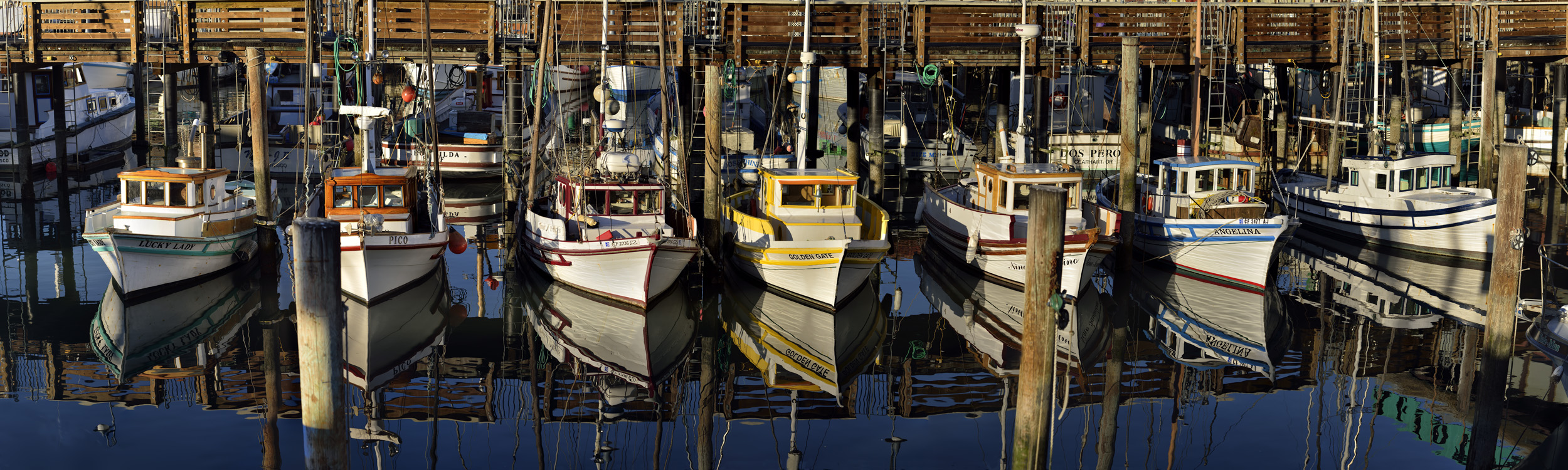 Vessels at Fisherman's wharf