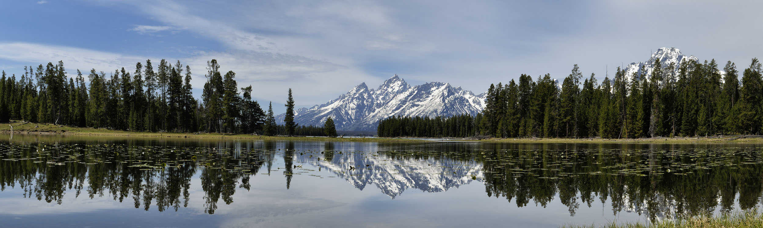 small Grand Tetons from Heron Pond