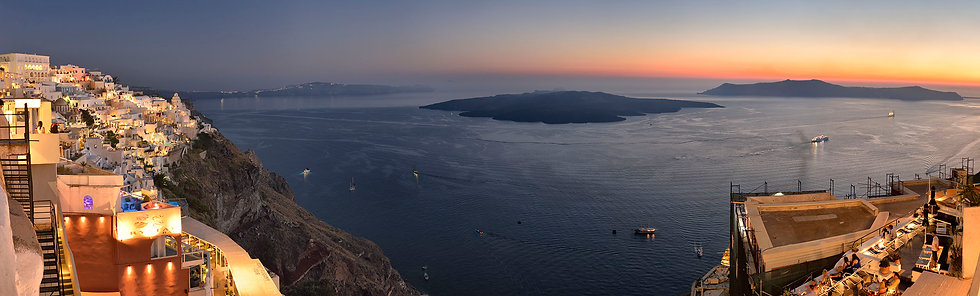 Night Overlooking Santorini Caldera