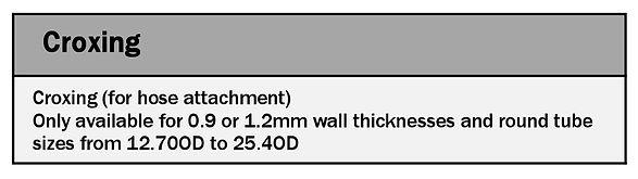 Tube Bending Ltd Croxing tooling chart 2