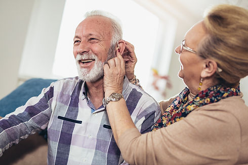 Older man and woman or pensioners with a