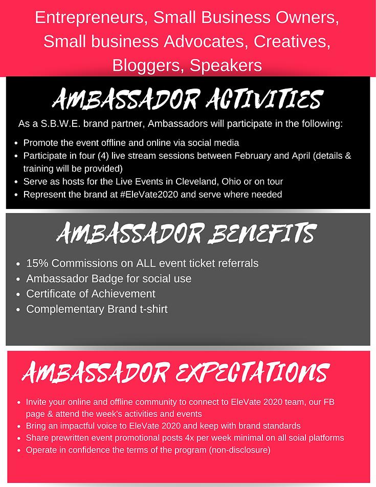 SBWE Elevate_Event Ambassador Program Re