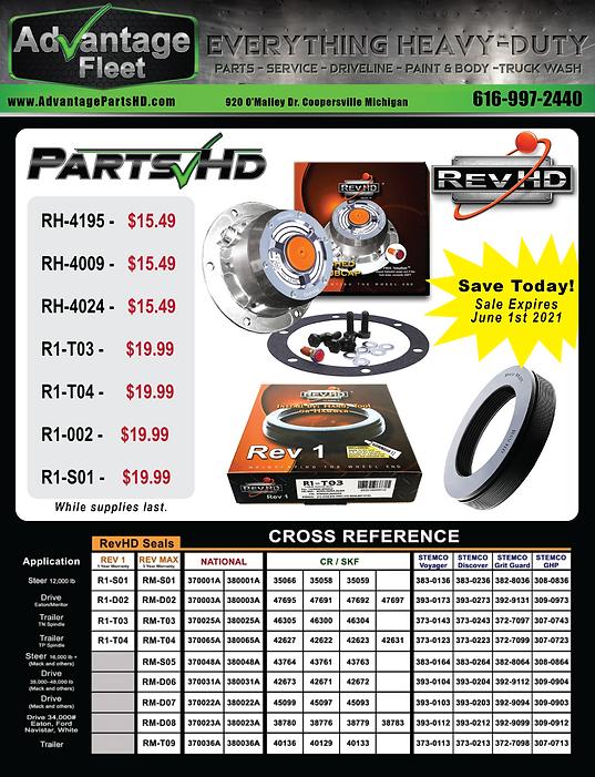 REVHd sale partshd