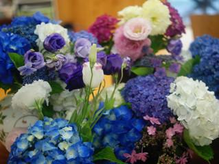 たくさんの花に囲まれて