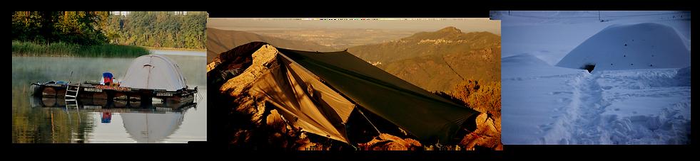 draußen Campen, Biwak, Wildis, Schneehöhle, Iglu, Floß, Tarp, jwd