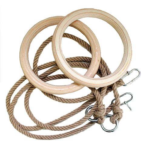 Holzringe mit Seil