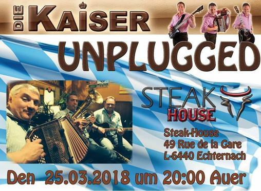 Bayerischer Abend im Steakhouse Echternach am Sonntag 25 März um 20.00 Uhr.