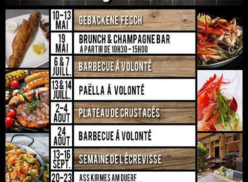 Frühling-Sommer Programm beim Steakhouse Echternach!
