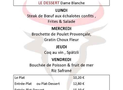 Lunchtime 6/5 -10/5. Bon appetit!