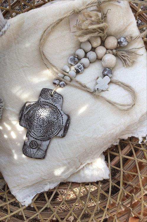 Handmade ceramic Cross