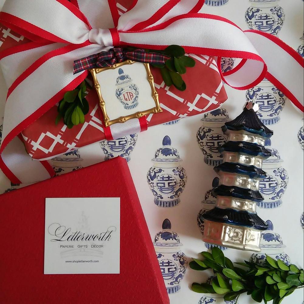 Letterworth signature ginger jar gift wrap