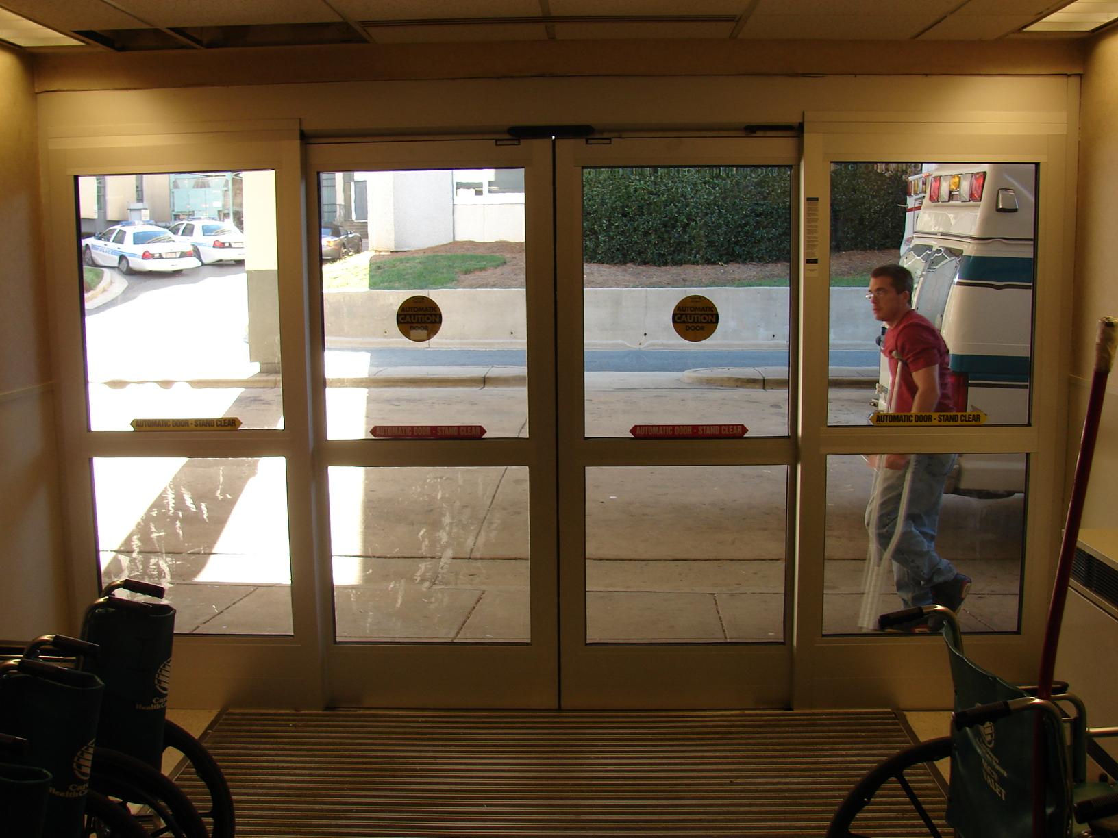 Emergency Room Sliding Doors