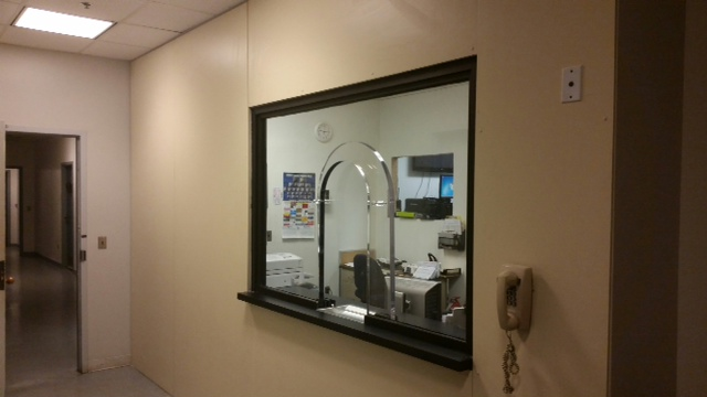 Payment Window with Wall Fiberglass - Clear Security Systems