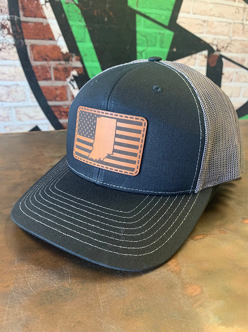 Indiana - Leather Patch Trucker