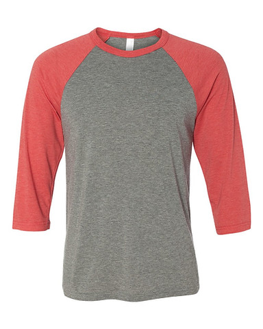 Grey/Red Tri-blend