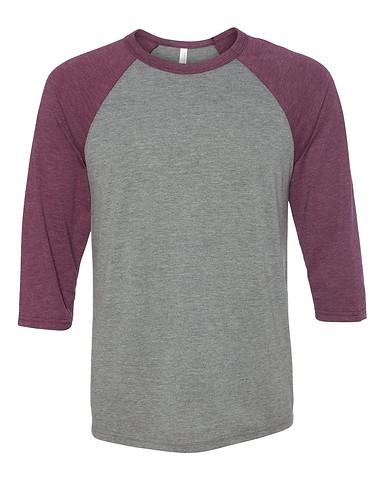 Grey/Maroon Tri-blend