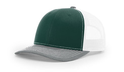Dark Green/White/Heather Grey