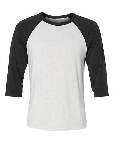 White Fleck/Charcoal Black Tri-blend