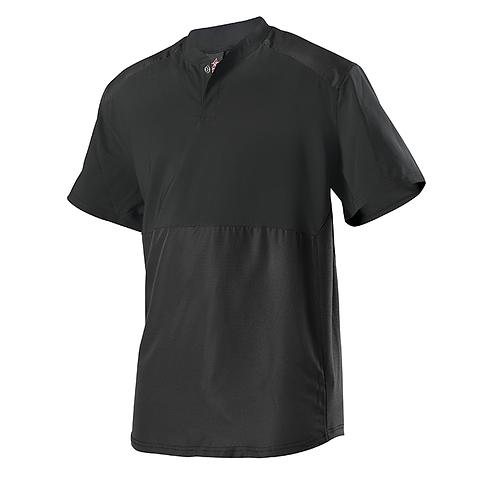 38-Short Sleeve Stretch Woven Batters Jacket