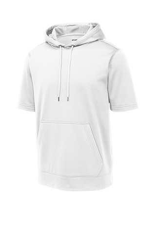 33-Sport Wick Fleece Short Sleeve Hoodie