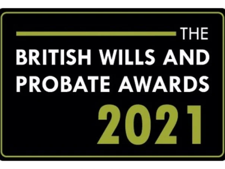 The British Wills & Probate Awards 2021 - Anglia Research and Fraser & Fraser shortlisted!