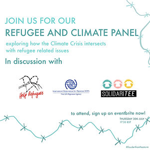 Refugee x climate Panel:discover the highlights of the event and read the transcript