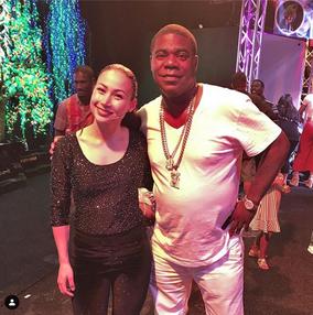 Melody Yang and Tracy Morgan