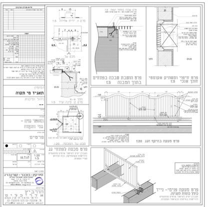 שרטוט פרטי בנין. חשוב לאפיין בזמן התכנון כדי לקבל תוצאה בנויה כפי שרוצים, ופחות אילתורים חופשיים