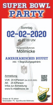 02-02-2020: SUPER BOWL PARTY IN DER DGH