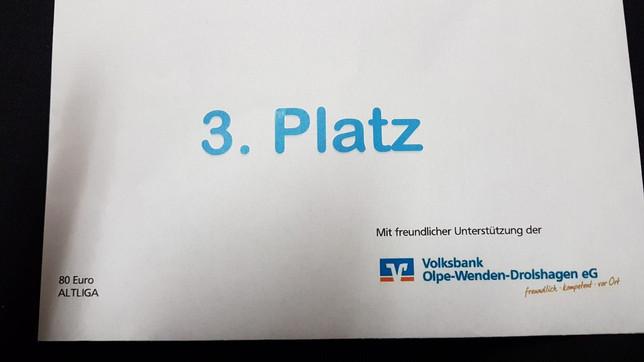 Ü32: 3.Platz beim Gemeindepokal !!
