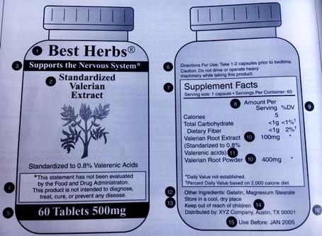 Interpreting Supplements Labels