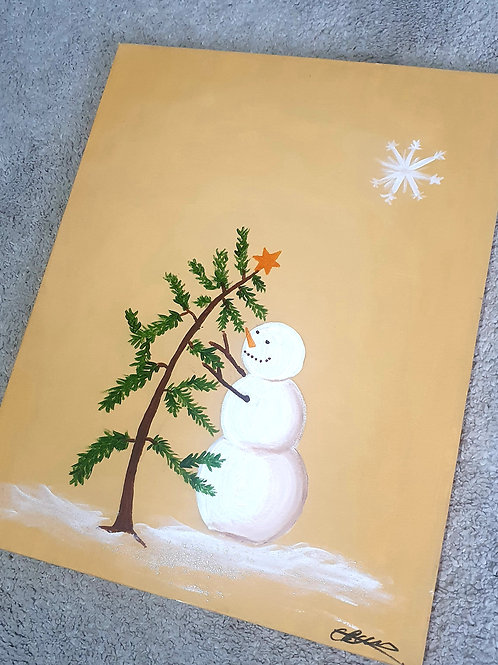 Christmas Paint and Sip Project 4-  40 x 50 cm
