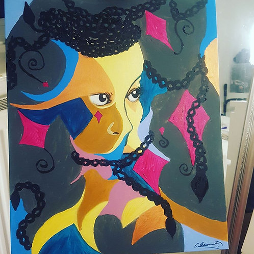 "Its a Grey World 22"" x 18"" Acrylic on Canvas"