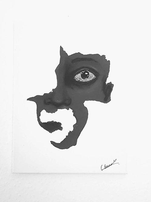 Silence 40 x 50 cm Acrylic on Canvas