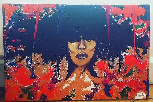 """Jean 36"""" x 24"""" Acrylic on Canvas"""