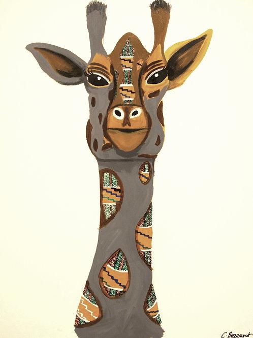 "Giraffe 32"" x 24"" Acrylic on Canvas"