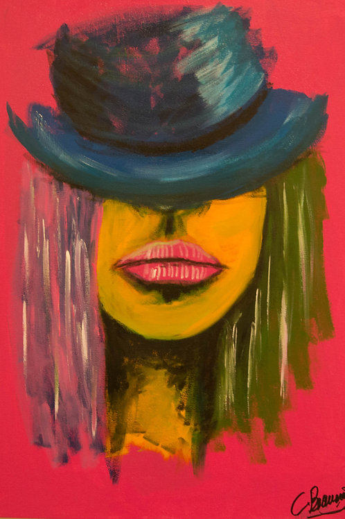 "Erykah 24""x 17"" Acrylic on Canvas"