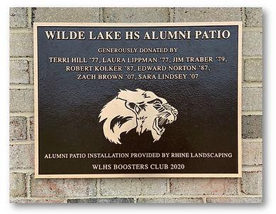 WLHS ALUMNI PATIO bronze plaque overview