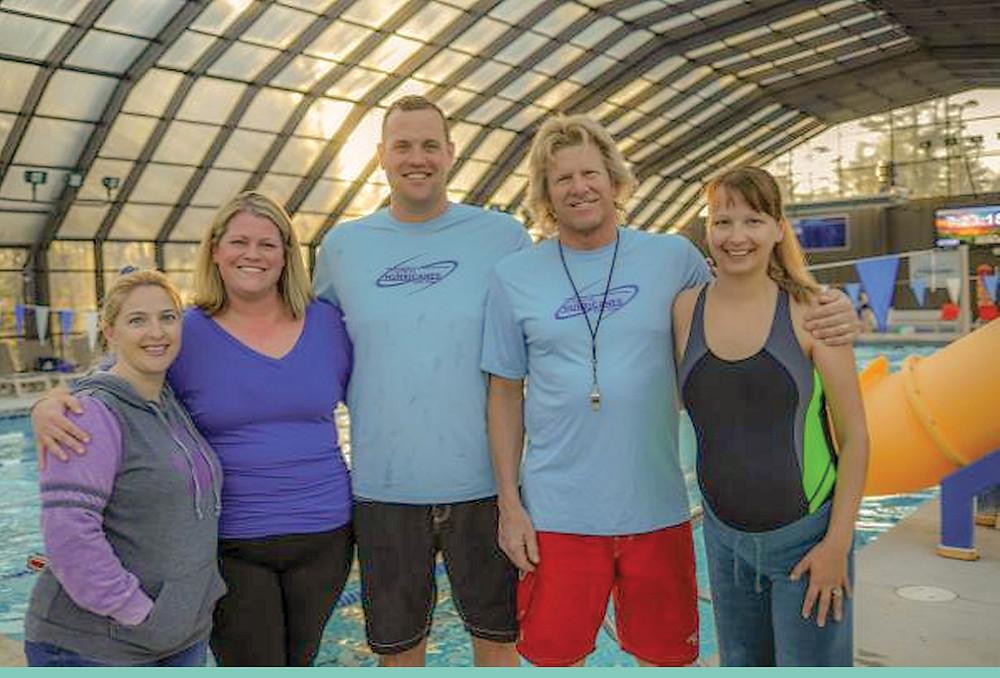 (Left to Right) Volunteer Coaches Jackie Powell, Debbie Kenter, Jordan Kenter, Steve Hott  and Anna Jestin (Not Pictured: Julie Hughes)