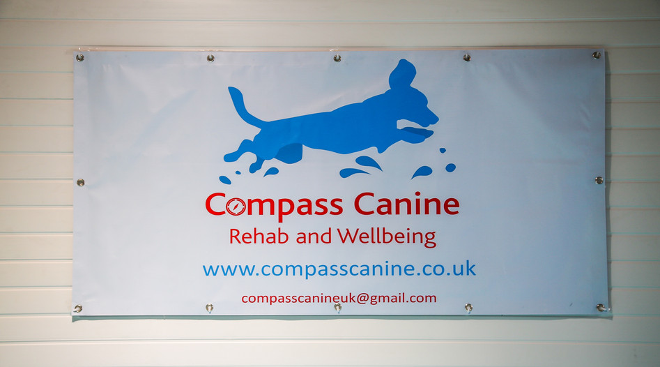 Banner over the hydrotherapy pool