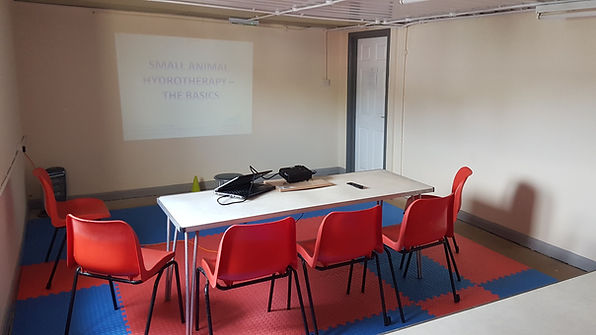 Meeting room ready for a presentation