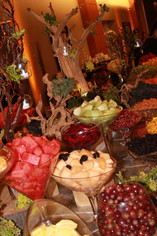 Fruit Table (Tree and Candle Decorations)